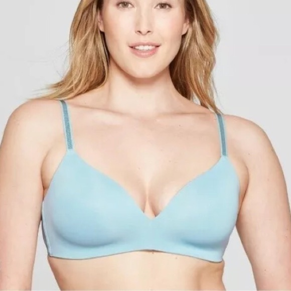 Auden Other - Auden the Bliss Blue Bra Convertible WireFree NWOT